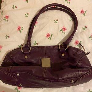 Purple leather Tignanello purse